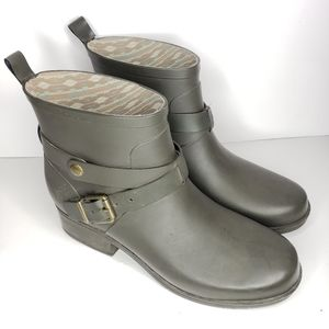 Lucky Brand Olive Green Rindah Rain Boots 9